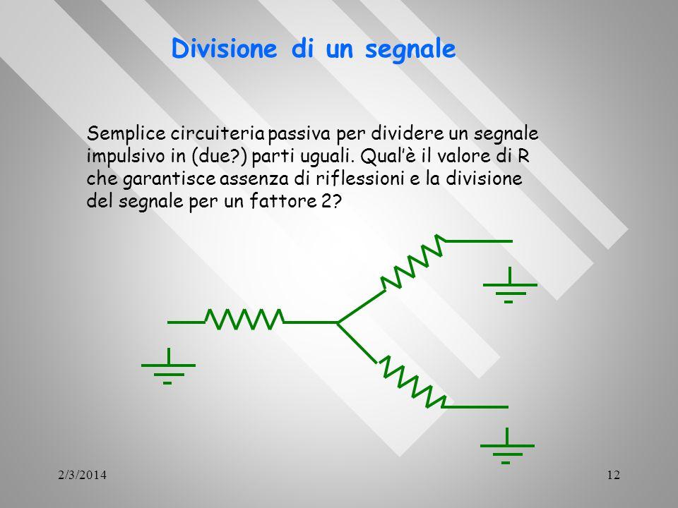 Divisione di un segnale