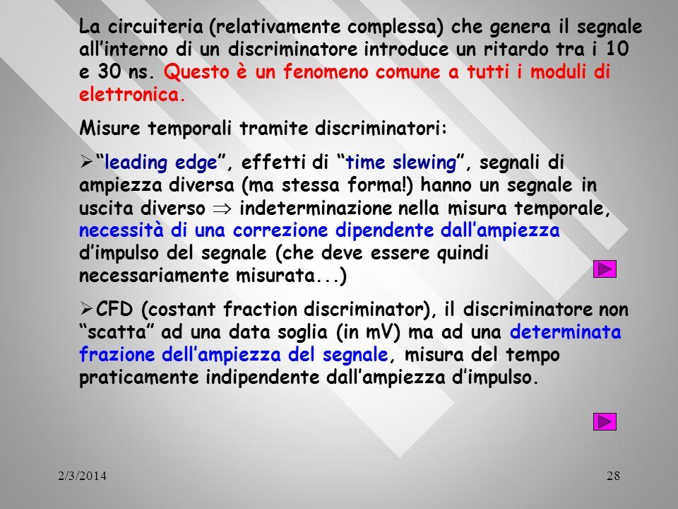 Misure temporali tramite discriminatori: