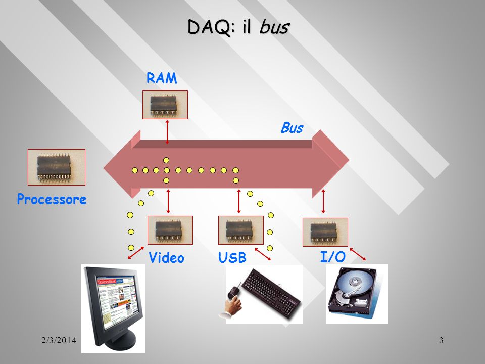 DAQ: il bus RAM Bus Processore Video USB I/O 3/27/2017