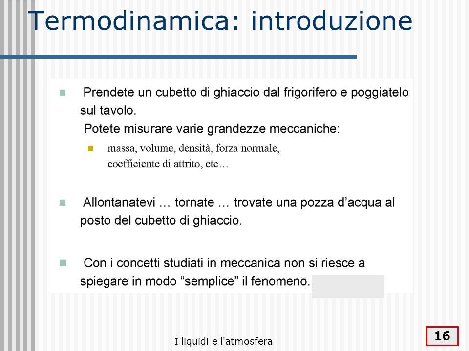 Termodinamica: introduzione