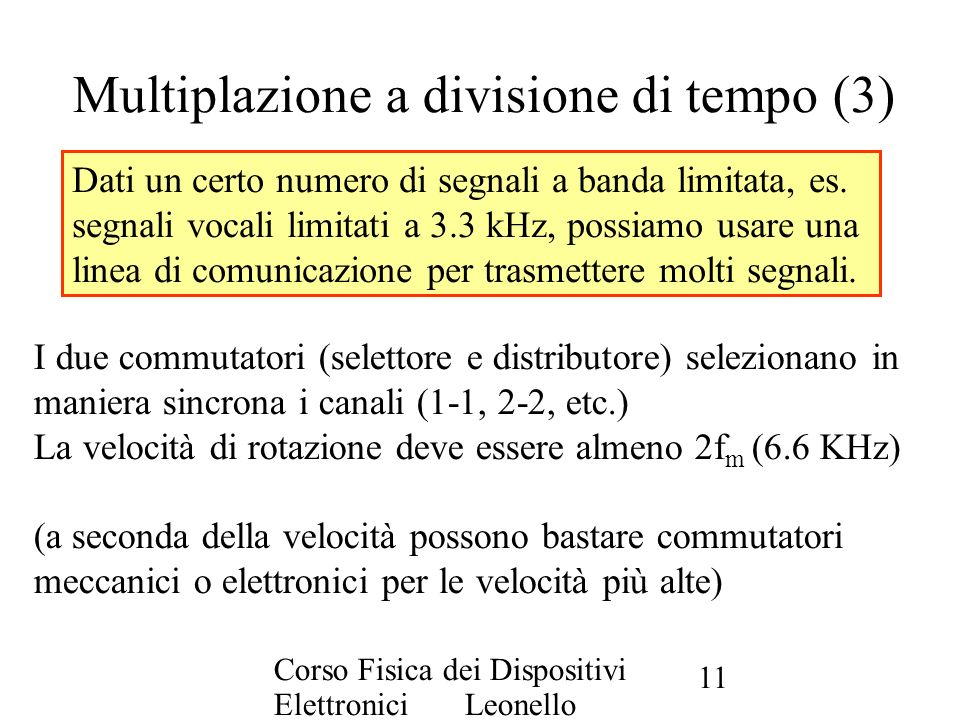 Multiplazione a divisione di tempo (3)