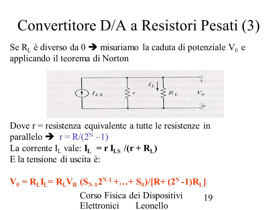 Convertitore D/A a Resistori Pesati (3)