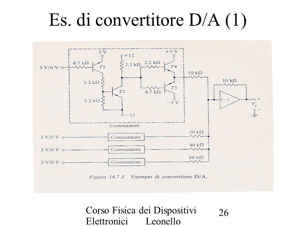 Es. di convertitore D/A (1)