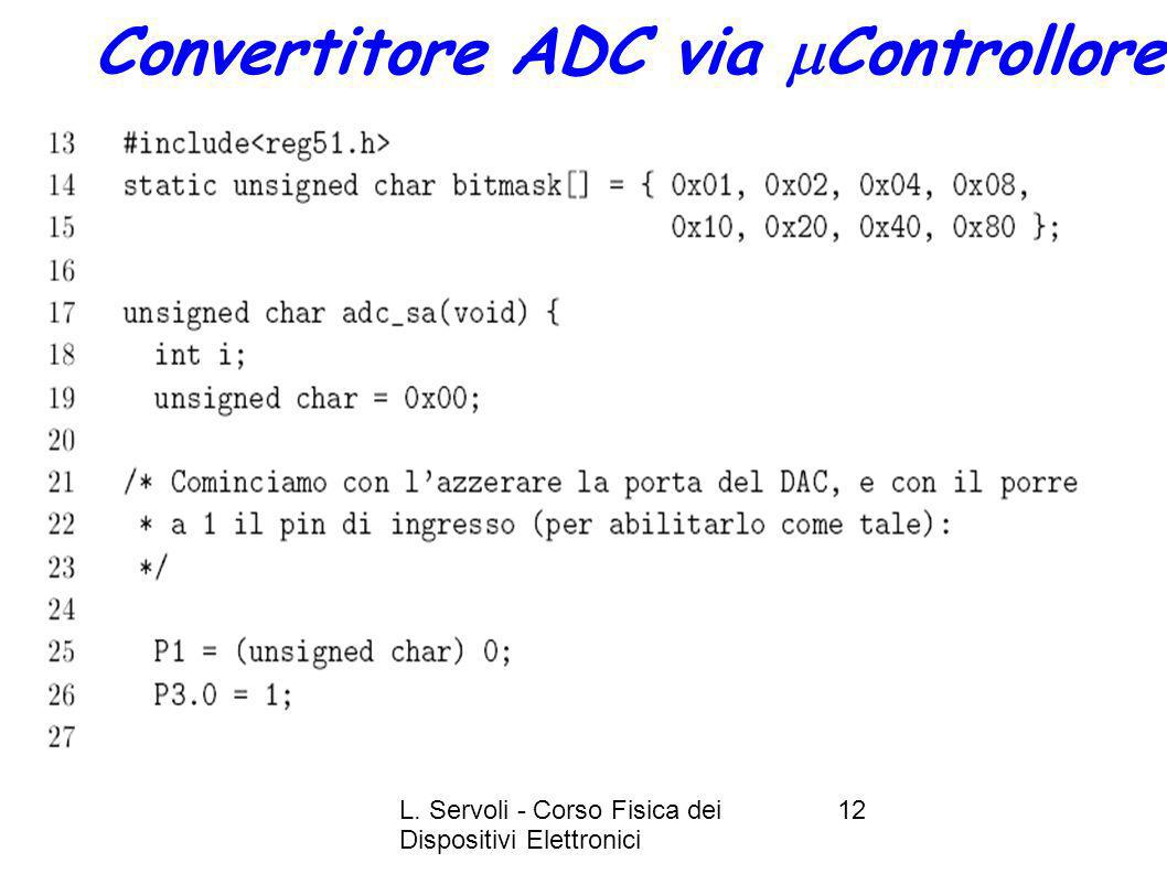 Convertitore ADC via mControllore