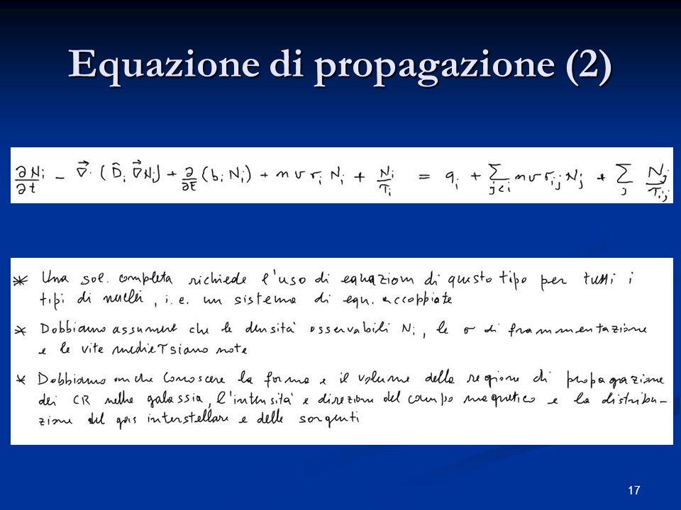 Equazione di propagazione (2)