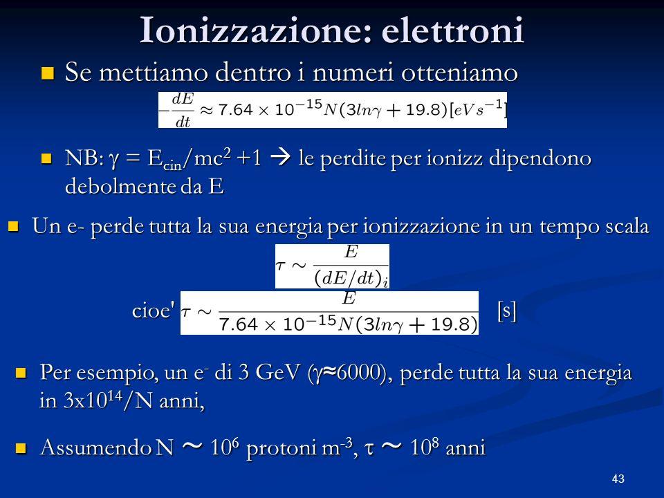 Ionizzazione: elettroni