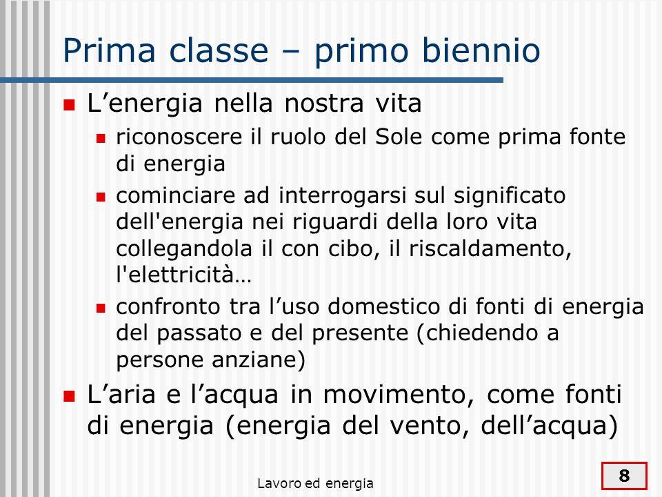 Prima classe – primo biennio