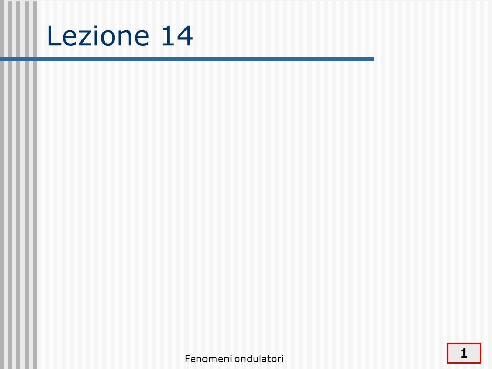 Lezione 14 Fenomeni ondulatori