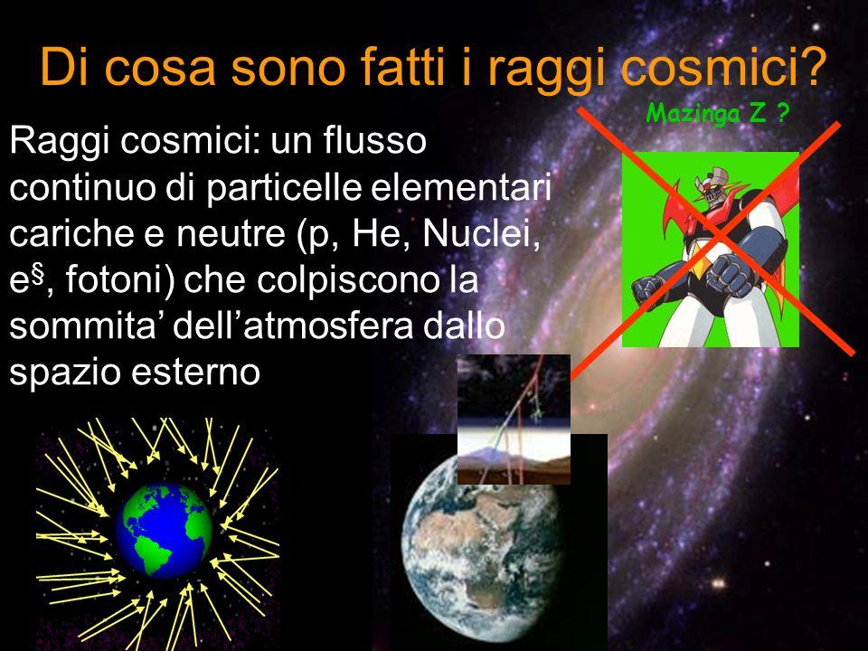 Di cosa sono fatti i raggi cosmici