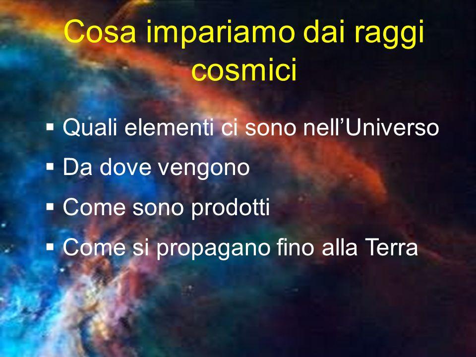 Cosa impariamo dai raggi cosmici