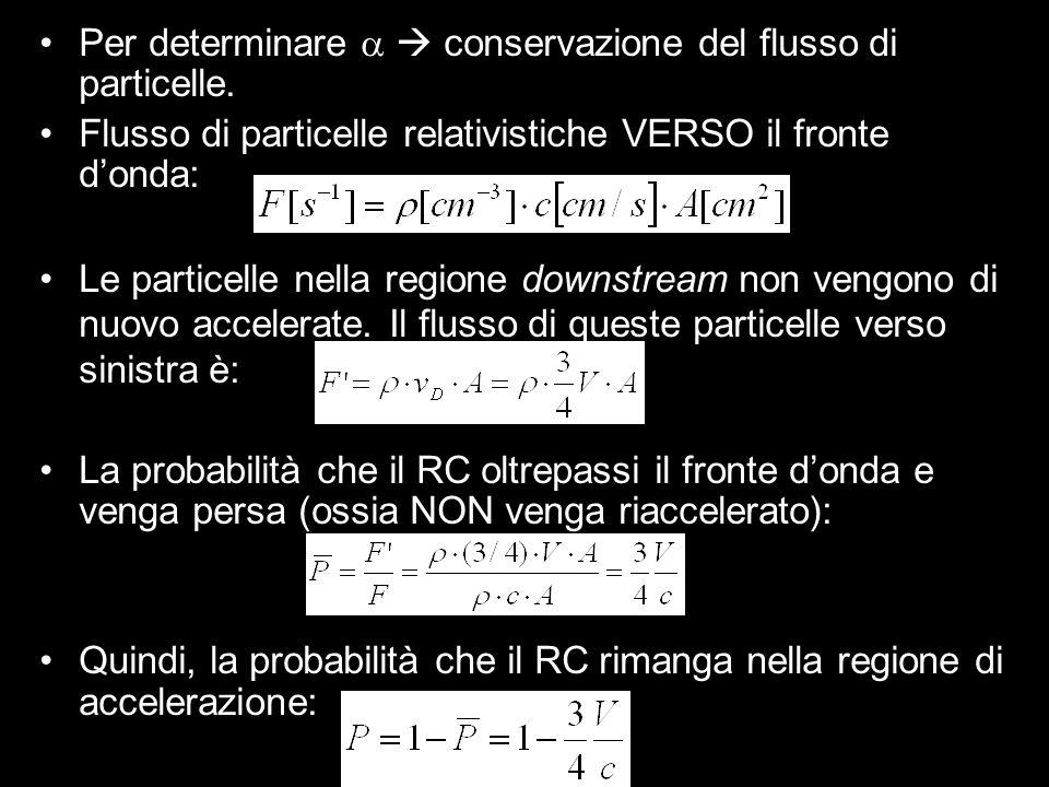 Per determinare a  conservazione del flusso di particelle.