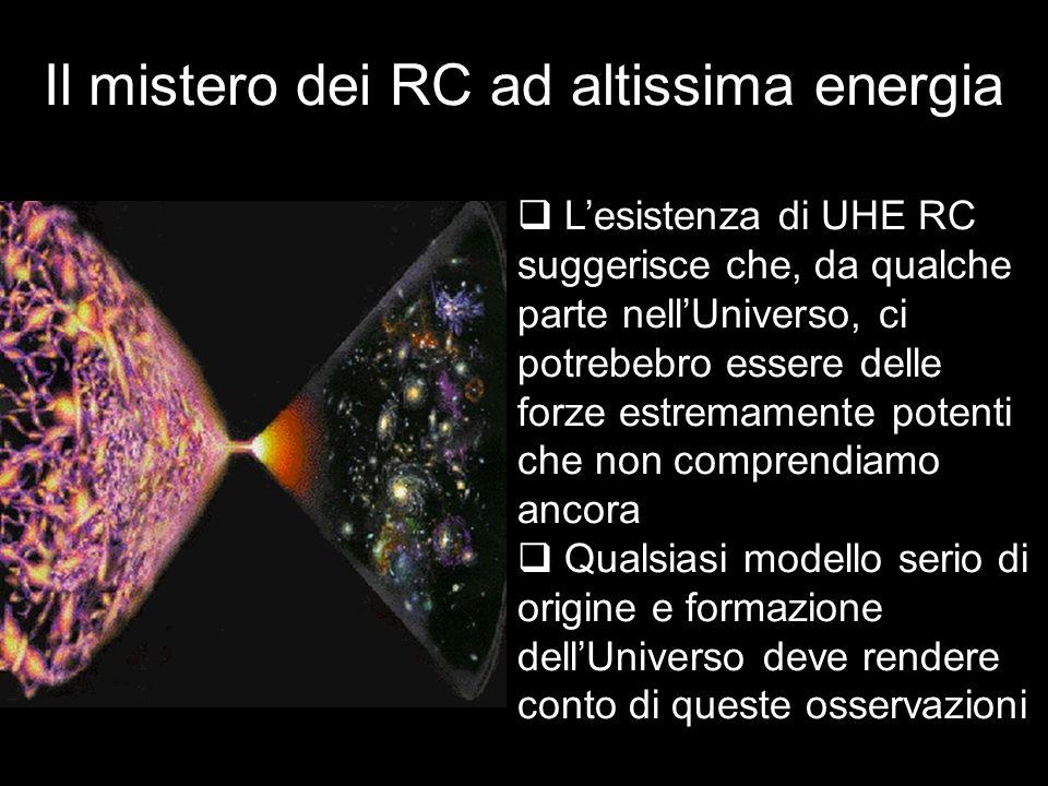 Il mistero dei RC ad altissima energia