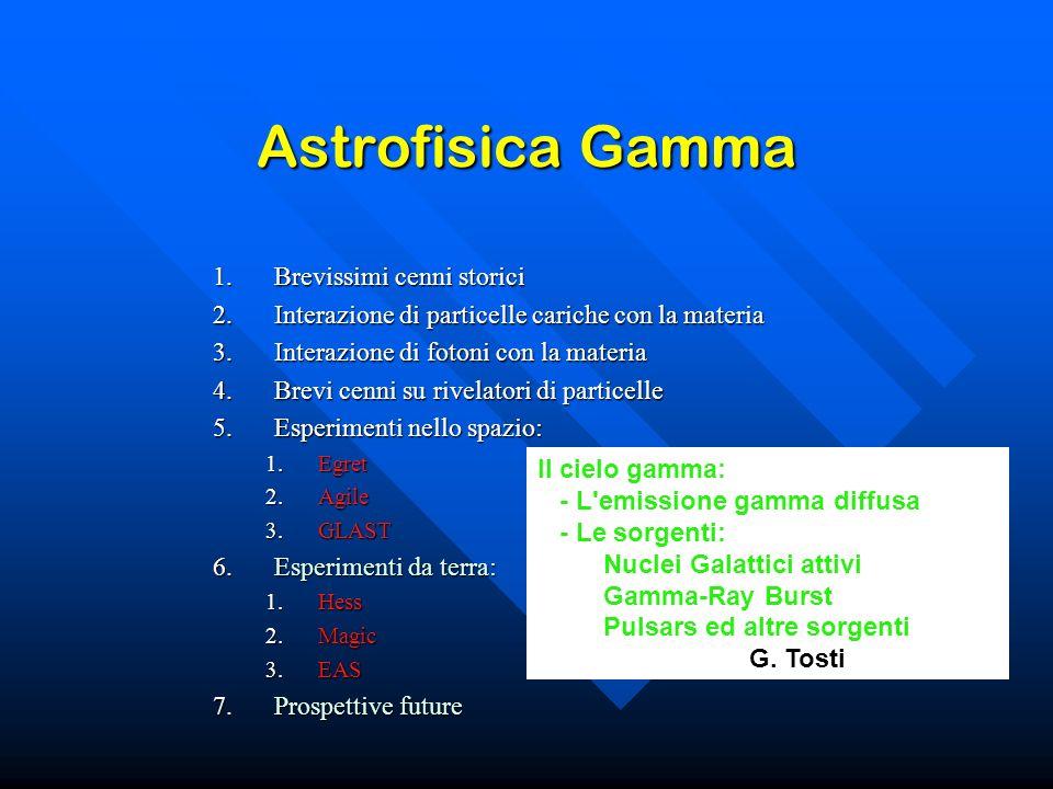 Astrofisica Gamma Brevissimi cenni storici