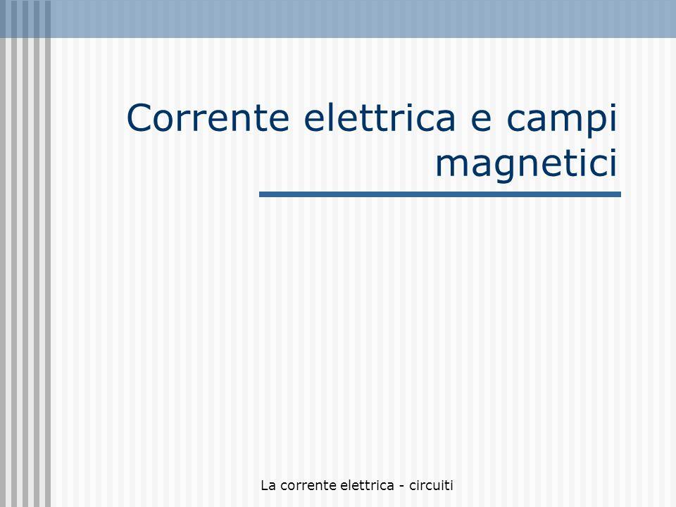 Corrente elettrica e campi magnetici