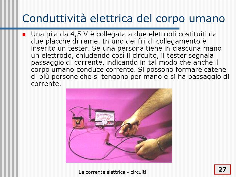 Conduttività elettrica del corpo umano