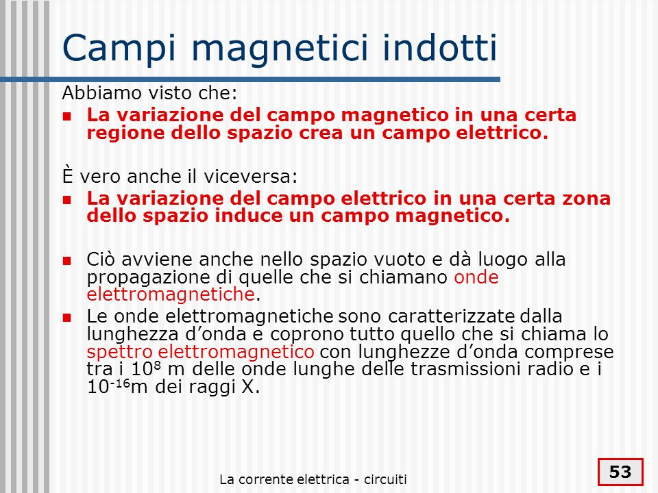 Campi magnetici indotti
