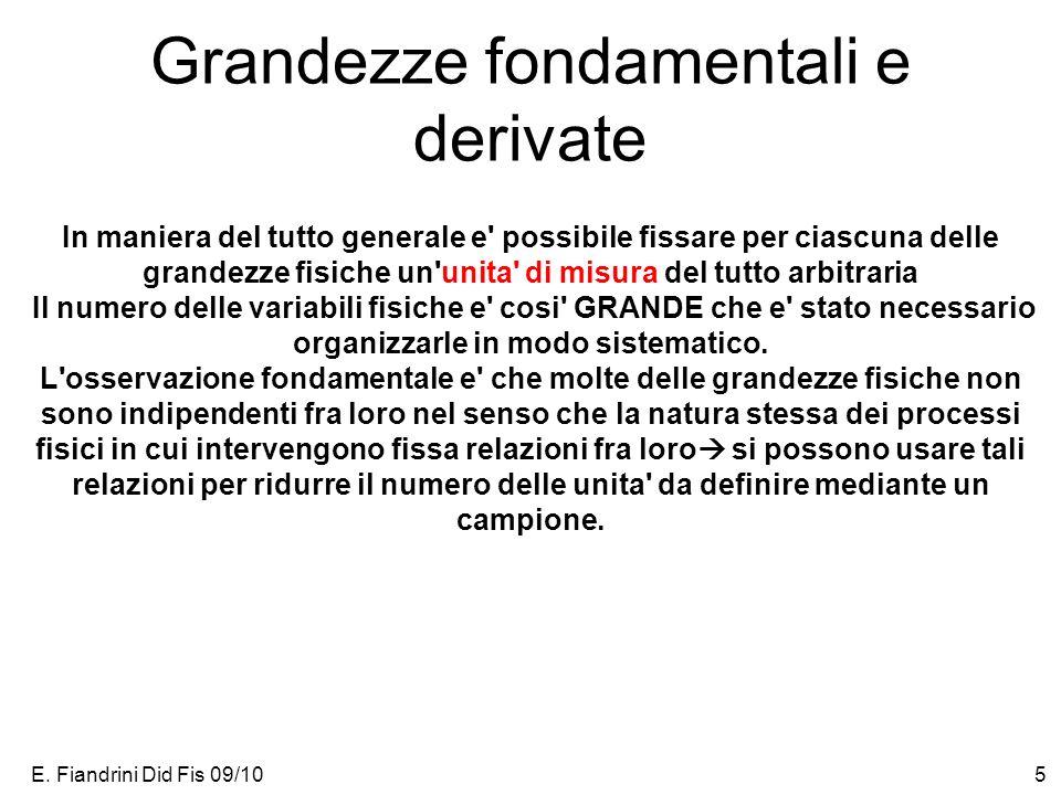 Grandezze fondamentali e derivate