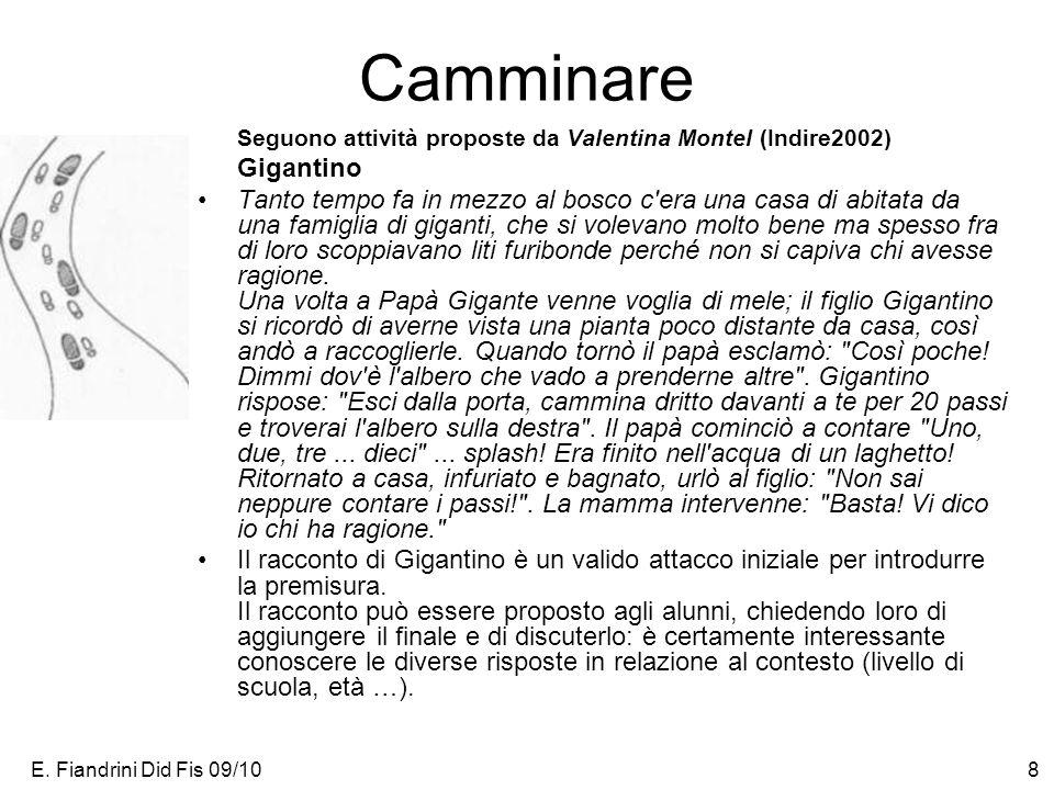 Camminare Seguono attività proposte da Valentina Montel (Indire2002)