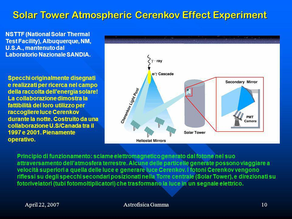 Solar Tower Atmospheric Cerenkov Effect Experiment