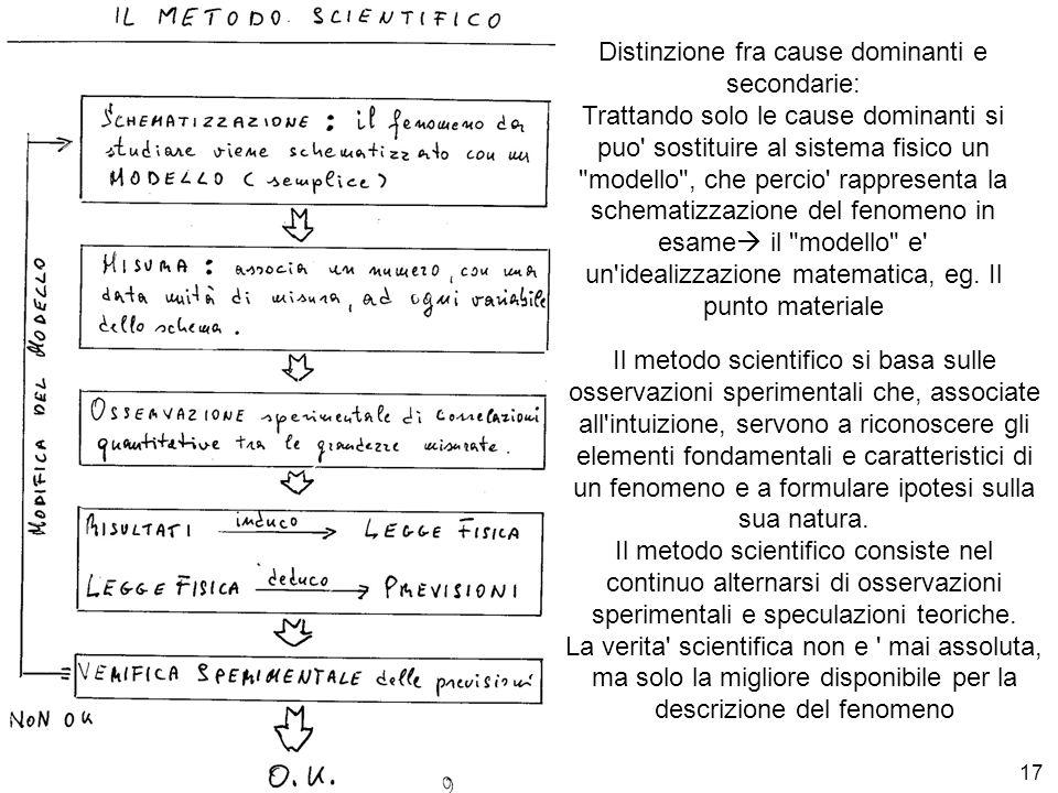 Distinzione fra cause dominanti e secondarie: