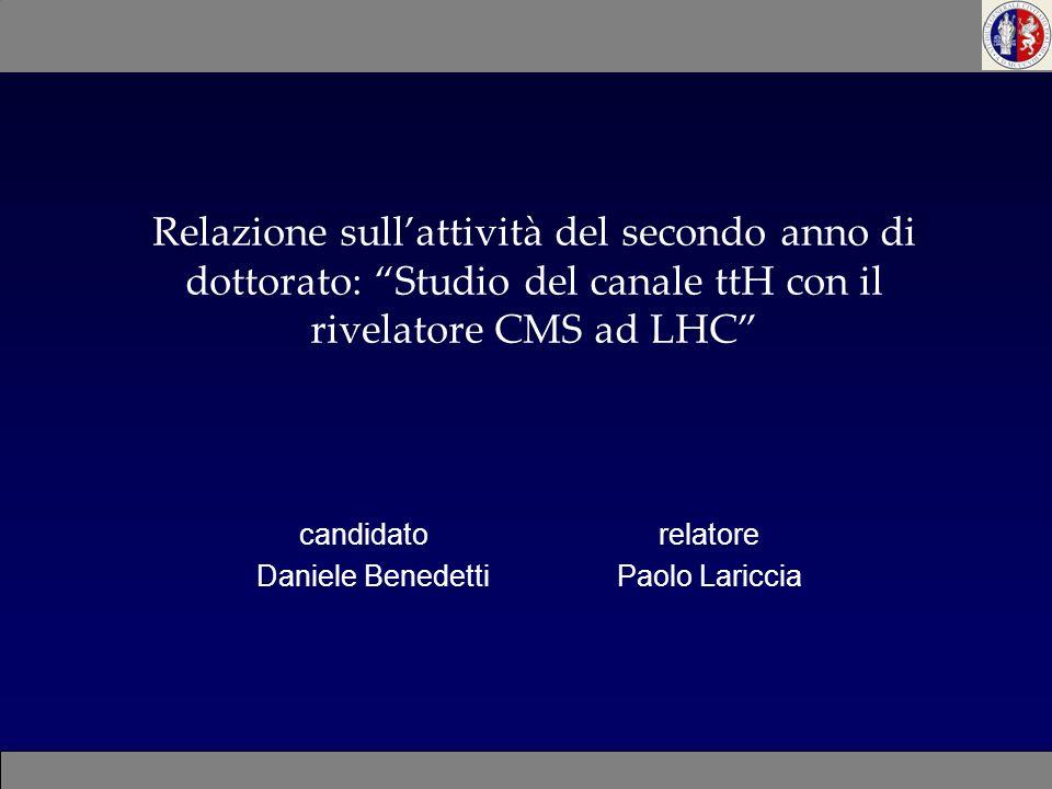 candidato relatore Daniele Benedetti Paolo Lariccia