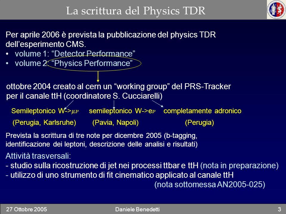 La scrittura del Physics TDR
