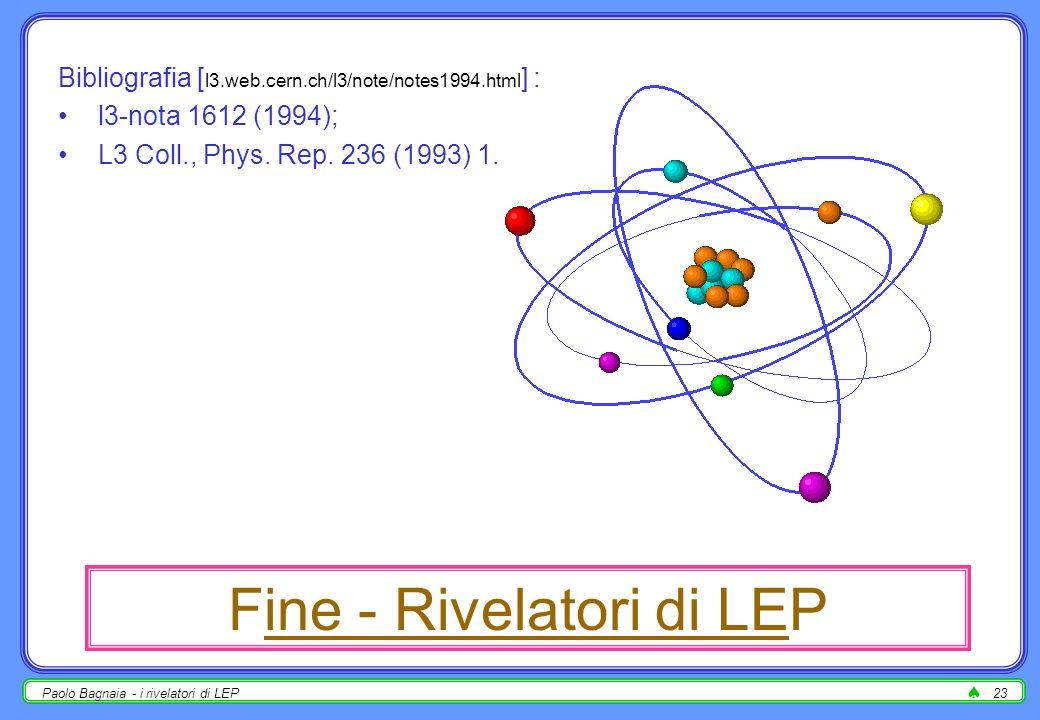 Fine - Rivelatori di LEP