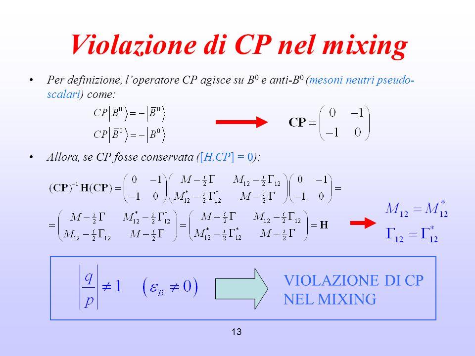 Violazione di CP nel mixing
