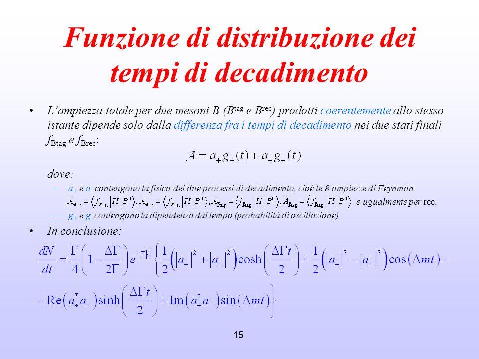 Funzione di distribuzione dei tempi di decadimento