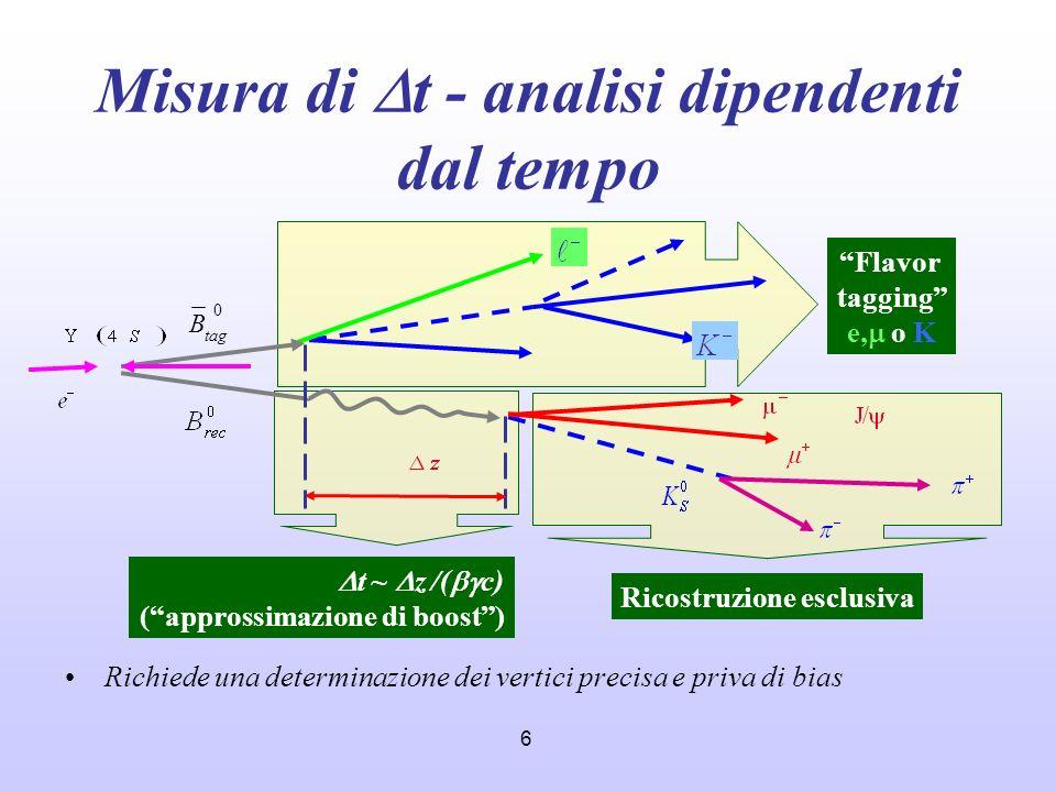 Misura di Dt - analisi dipendenti dal tempo