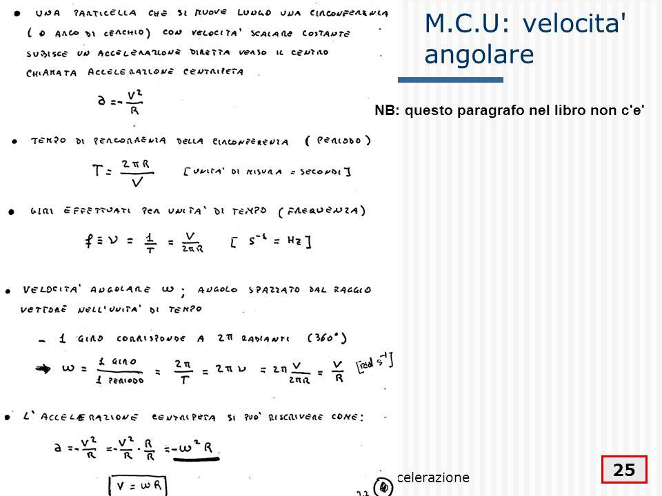 M.C.U: velocita angolare