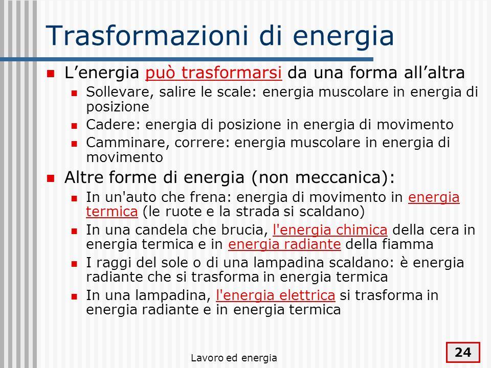 Trasformazioni di energia
