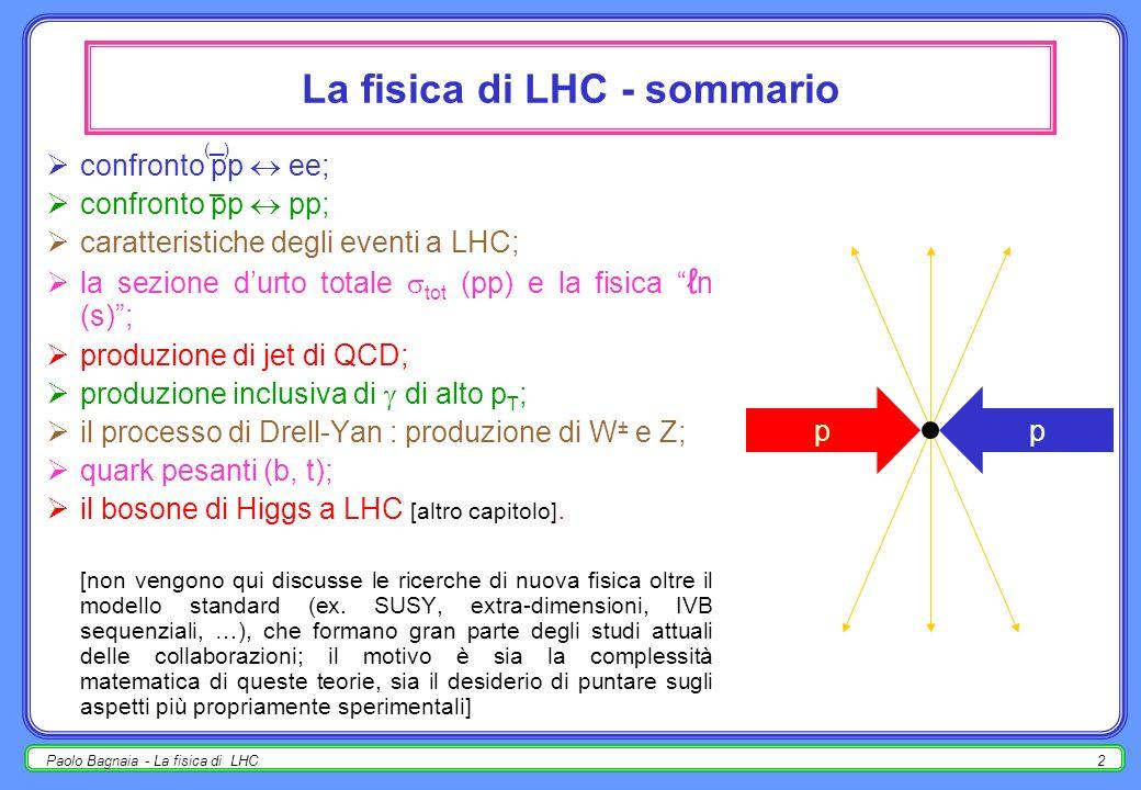 La fisica di LHC - sommario