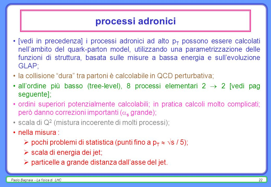 processi adronici