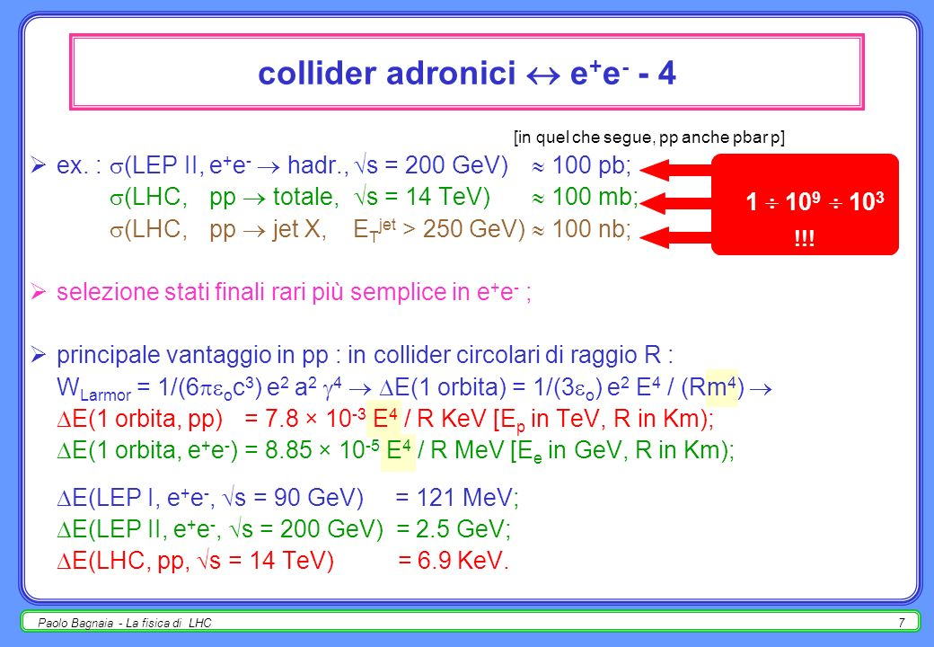 collider adronici  e+e- - 4