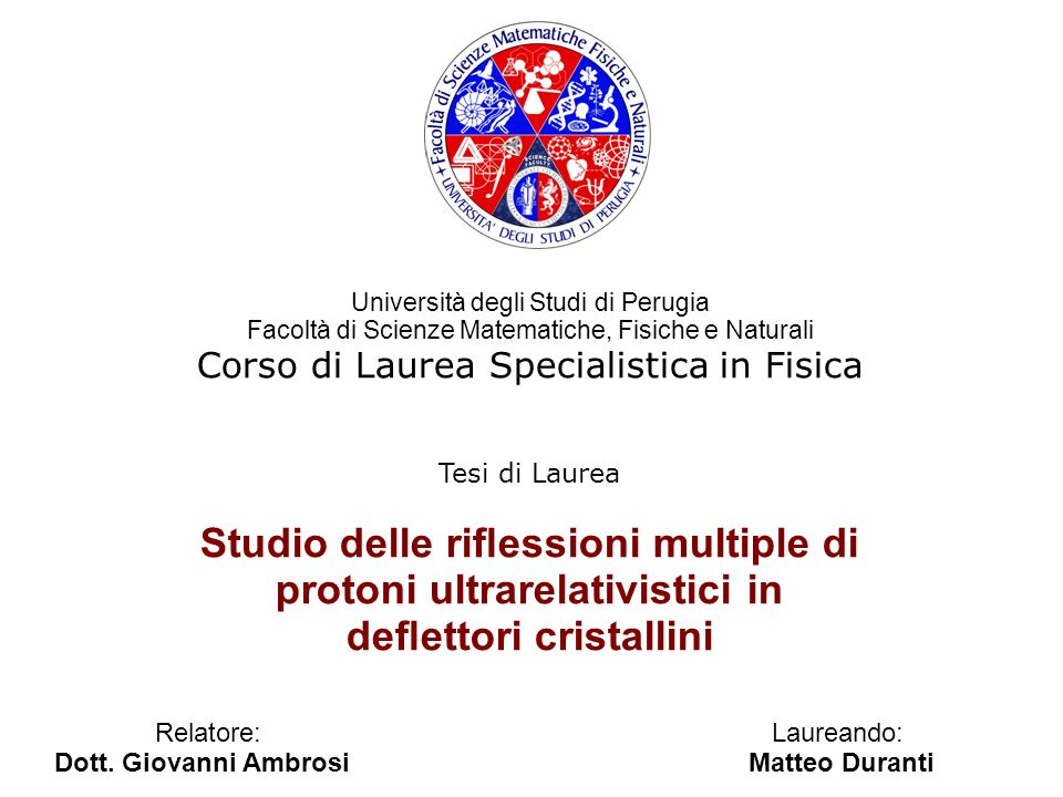 Studio delle riflessioni multiple di protoni ultrarelativistici in