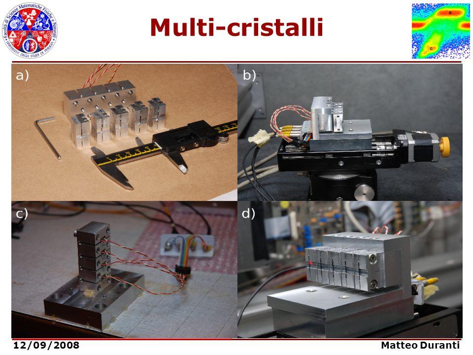 Multi-cristalli Aumento della deflessione angolare tramite più cristalli in sequenza: Angolo di deflessione: