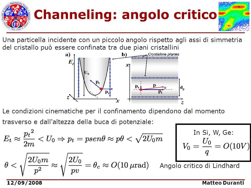 Channeling: angolo critico