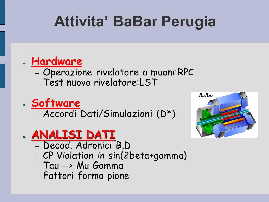 Attivita' BaBar Perugia
