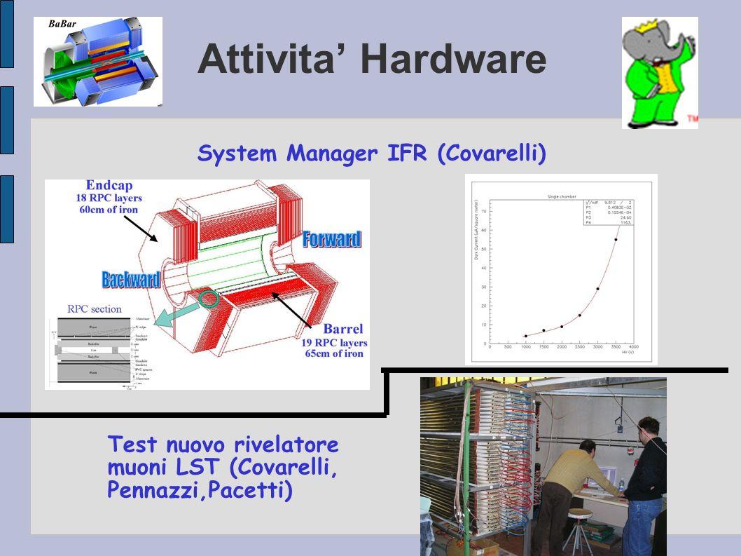 Attivita' Hardware System Manager IFR (Covarelli)