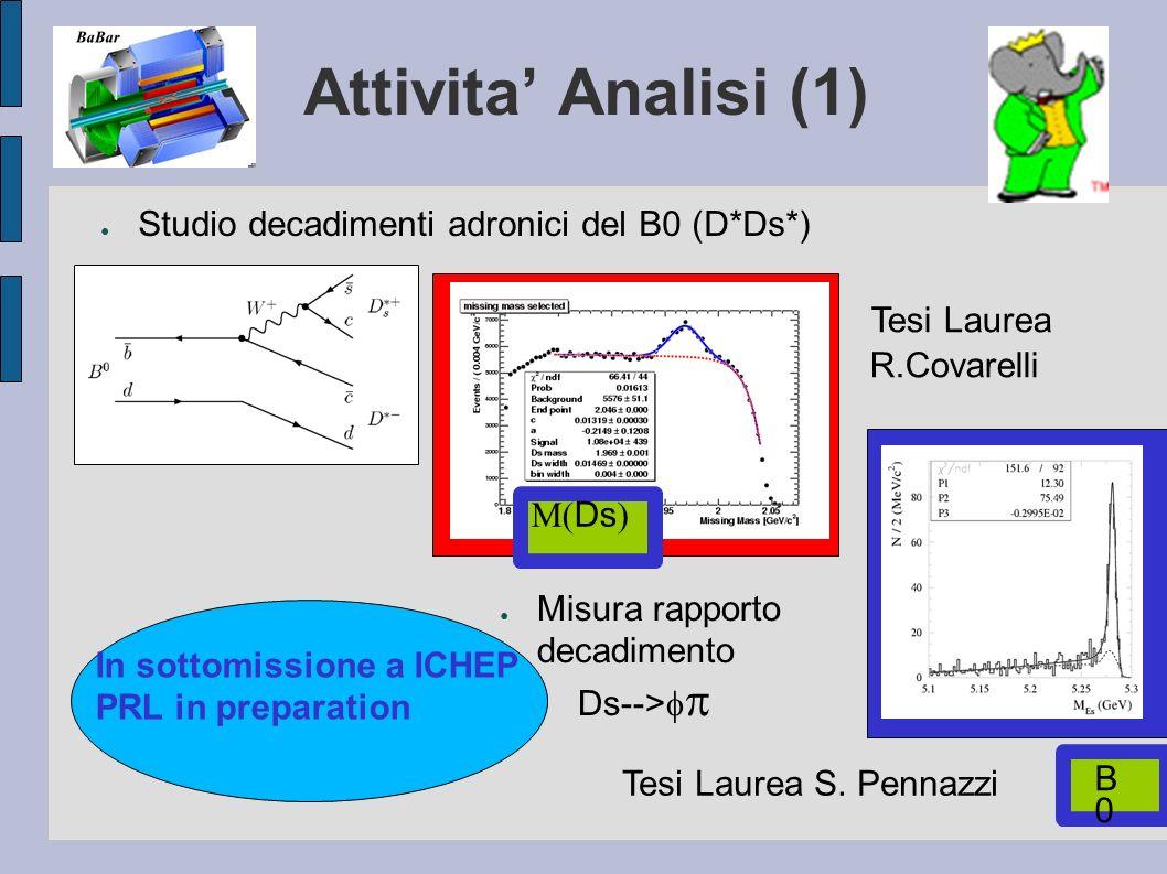 Attivita' Analisi (1) Tesi Laurea R.Covarelli
