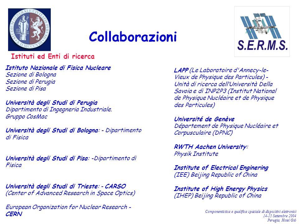Collaborazioni Istituti ed Enti di ricerca