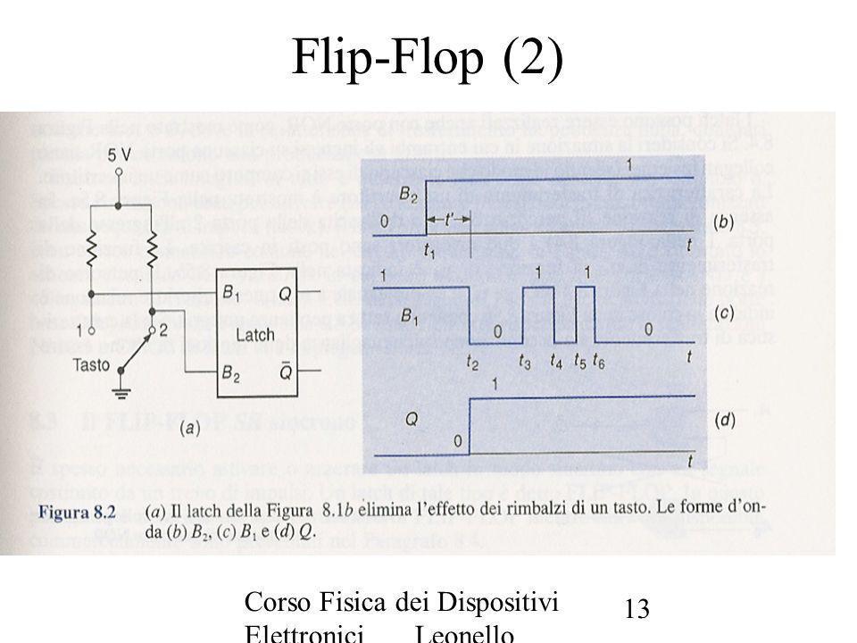 Flip-Flop (2) Corso Fisica dei Dispositivi Elettronici Leonello Servoli