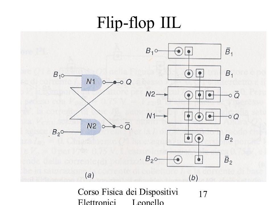Flip-flop IIL Corso Fisica dei Dispositivi Elettronici Leonello Servoli