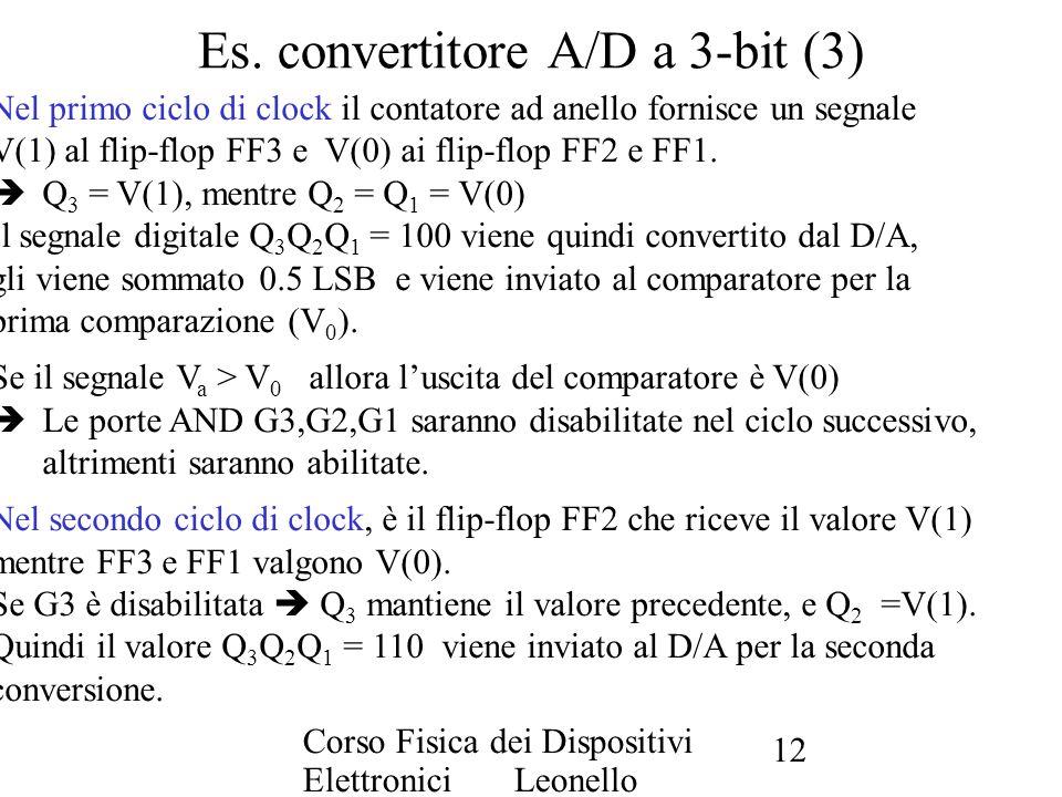 Es. convertitore A/D a 3-bit (3)