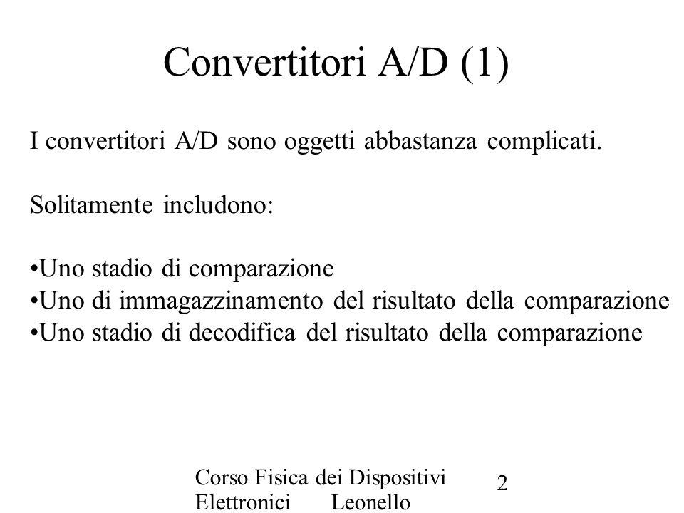 Convertitori A/D (1) I convertitori A/D sono oggetti abbastanza complicati. Solitamente includono: