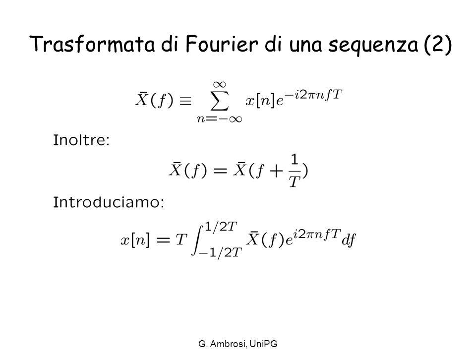 Trasformata di Fourier di una sequenza (2)