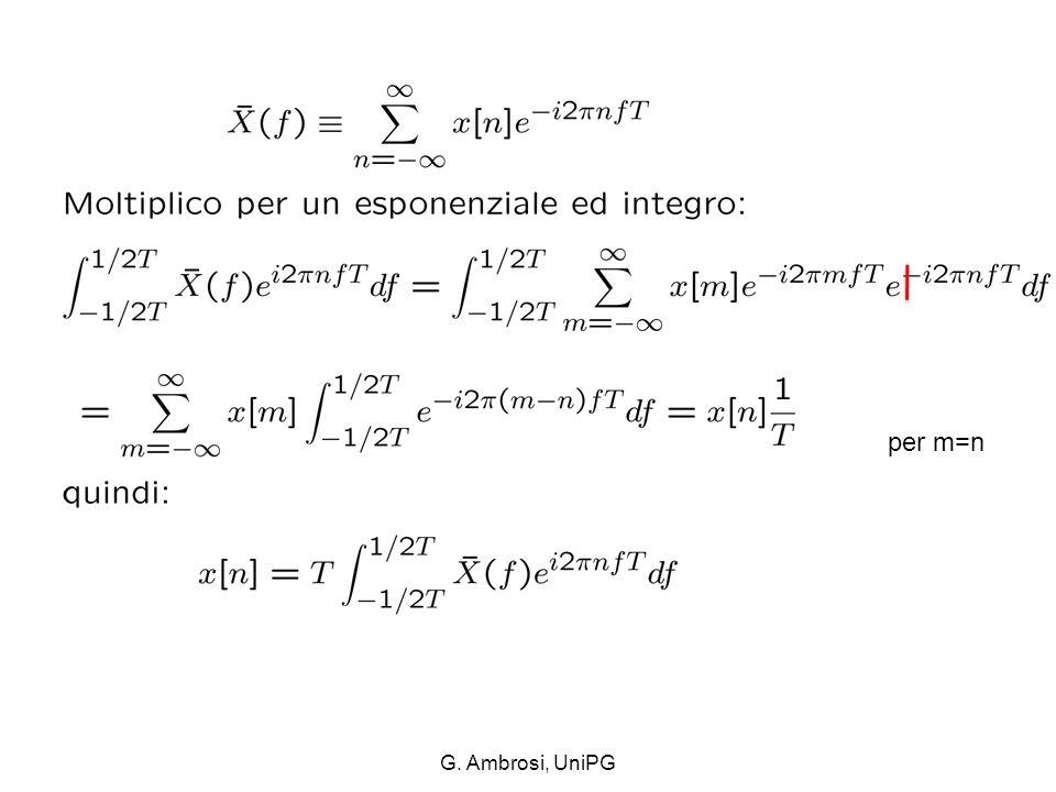 per m=n G. Ambrosi, UniPG