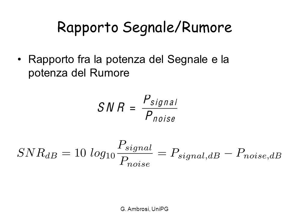 Rapporto Segnale/Rumore