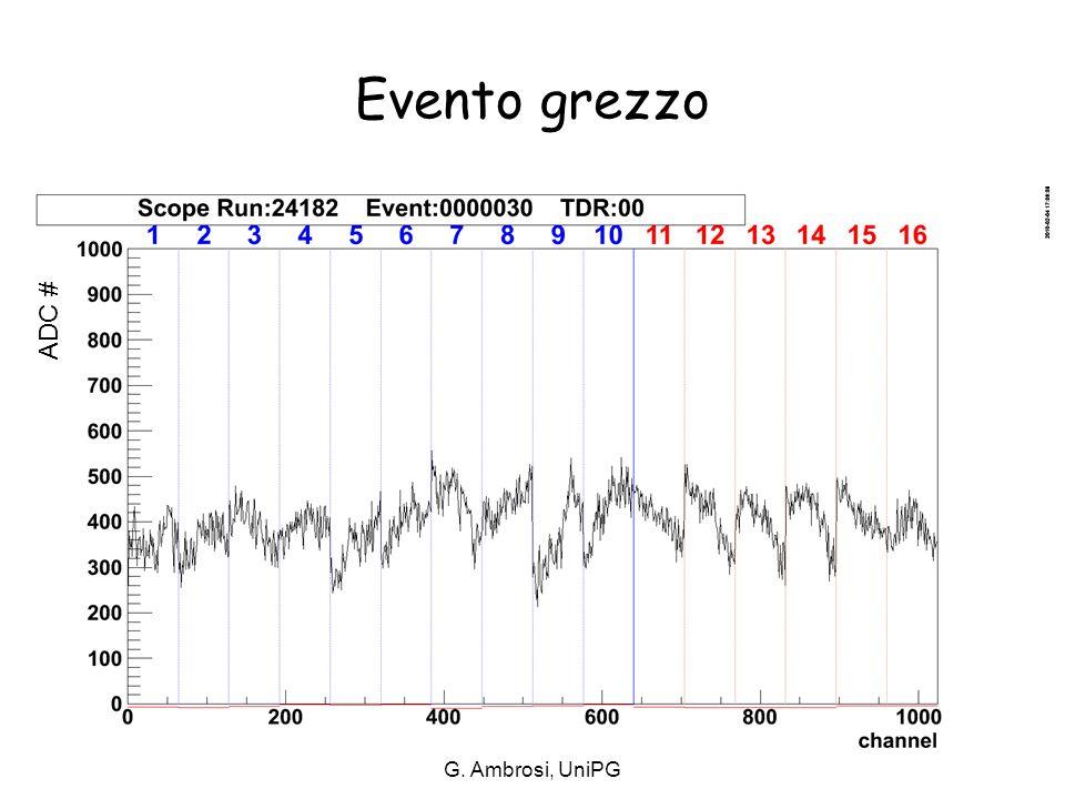 Evento grezzo ADC # G. Ambrosi, UniPG